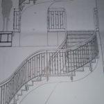 croquis-projet-habillage-d-un-escalier-en-plâtrerie-dans-un-magasin-vuitton-a-bruxelles-realisation-profil-staff